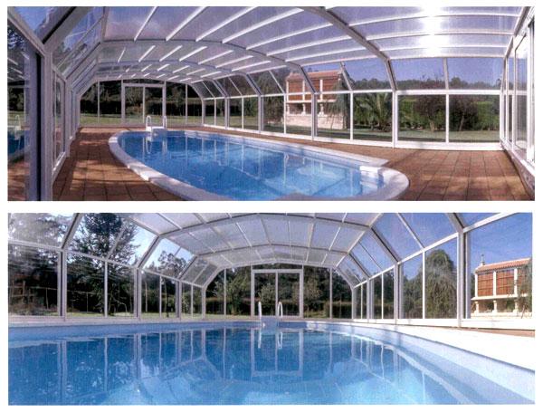 Ventanas de aluminio pasamanos y cubiertas de piscina - Piscina santiago de compostela ...